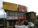 RTI Countdown signboard at Khyndai Lad parking lot - Michael Syiem of Meghalaya Right to Information Movement