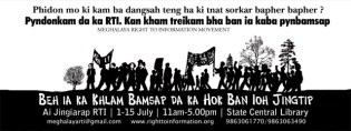 Banner published by Meghalaya RTI Movement