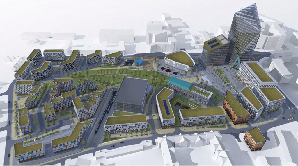 CGI of Paddington Scheme in Liverpool