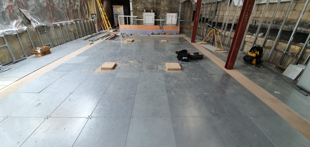 access flooring in the museum of the home in london in