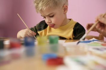 boy painting - Children Painting Images
