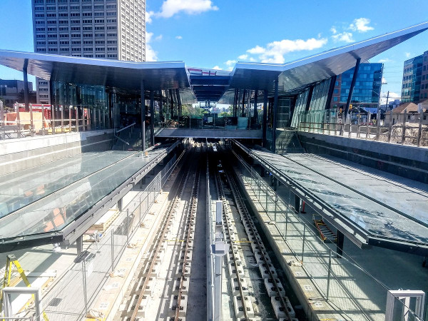 Tunney's Pasture LRT Station looking west October 4, 2018 (Image Credit: Fraser Pollock)