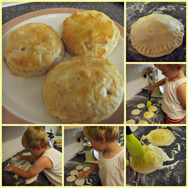 cheese and potato pasty
