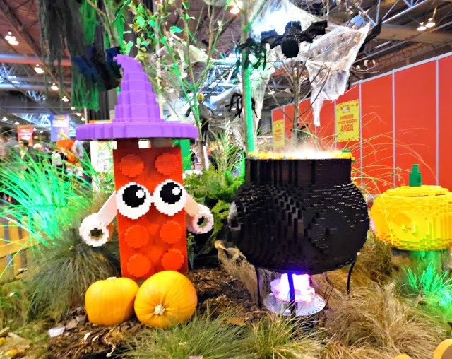 halloween display in lego