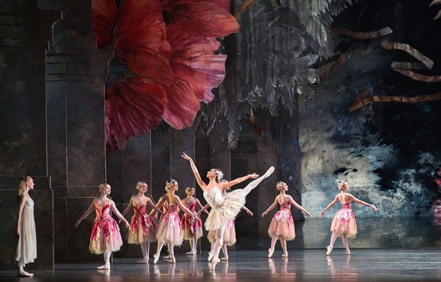 Ballet dancers on the stage performing The Nutcracker