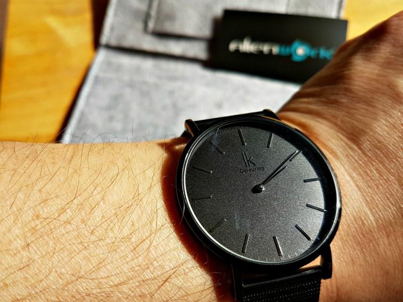 black watch on a mans wrist