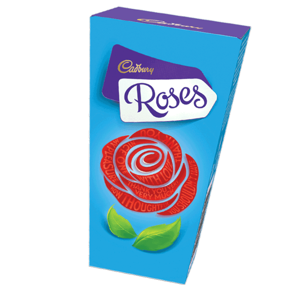 a box of Cadbury Roses chocolates