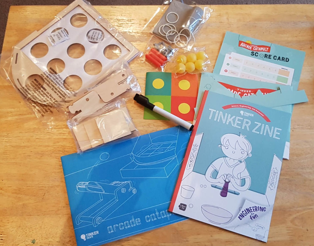 contents of kiwiCo Tinker Crate