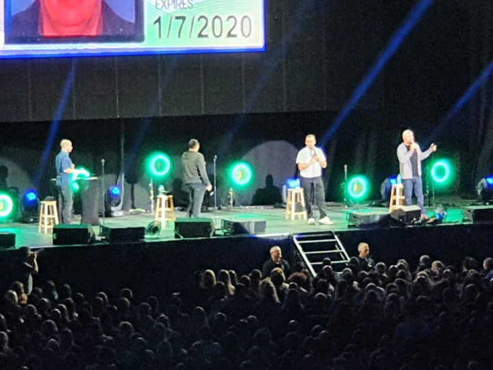 Close up of Impractical jokers, Murr, Sal, Joe and Q
