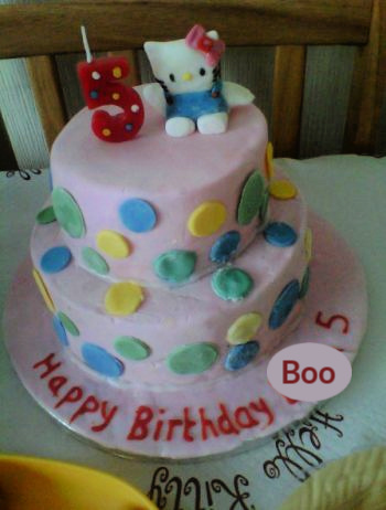 Boo's Hello Kitty birthday cake