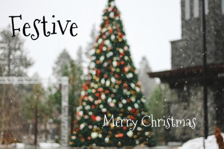 Festive christmas tree, merry christmas