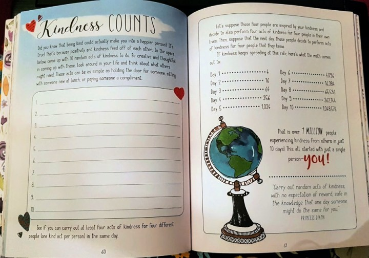 Kindness counts, keeping a kindess journal