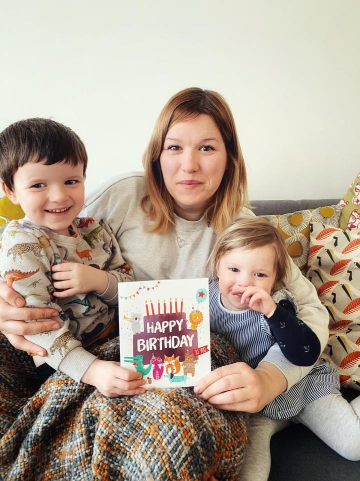 Hazel and her kids brightening birthdays
