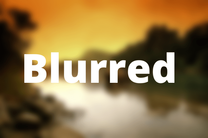 a blurry image with the word Blurred