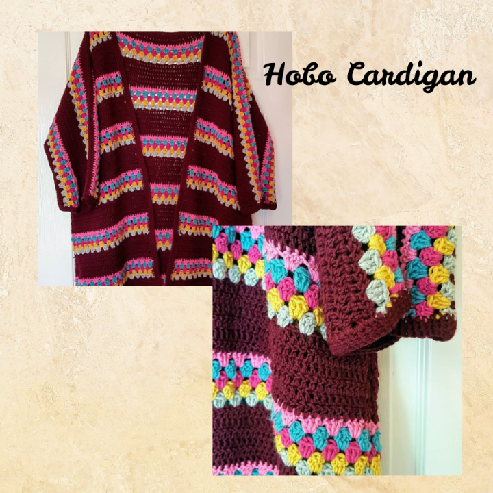 my hobo cardigan which I crocheted.