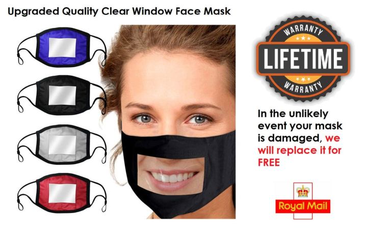window face masks to help the hearing impaired