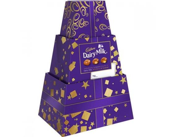 Dairy milk chunk tower