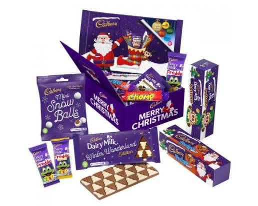 box of assorted chocolate treats from Cadburys