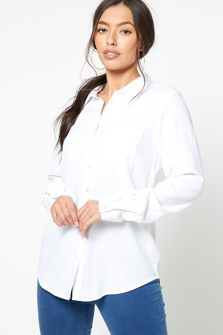 white blouse for zoom meetings.