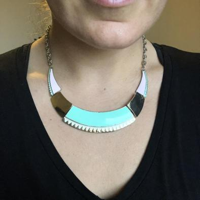 statement colour block necklace