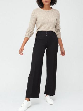 workplace fashion, black trousers