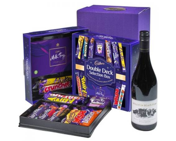 red wine and chocolate selection