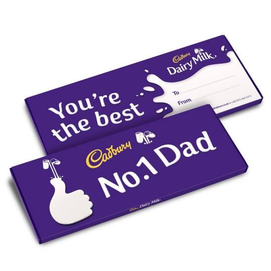 Cadbury No 1 Dad Father's Day Chocolate Bar.