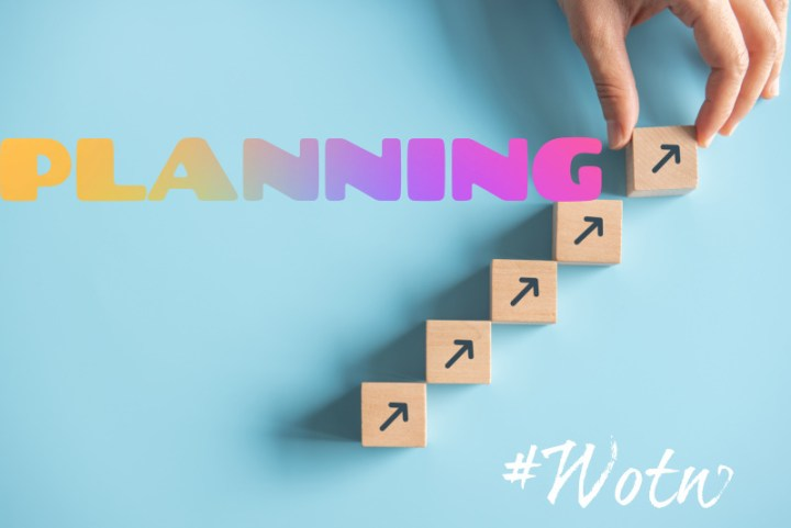 Planning. image shows a row of blocks going up and the word planning.