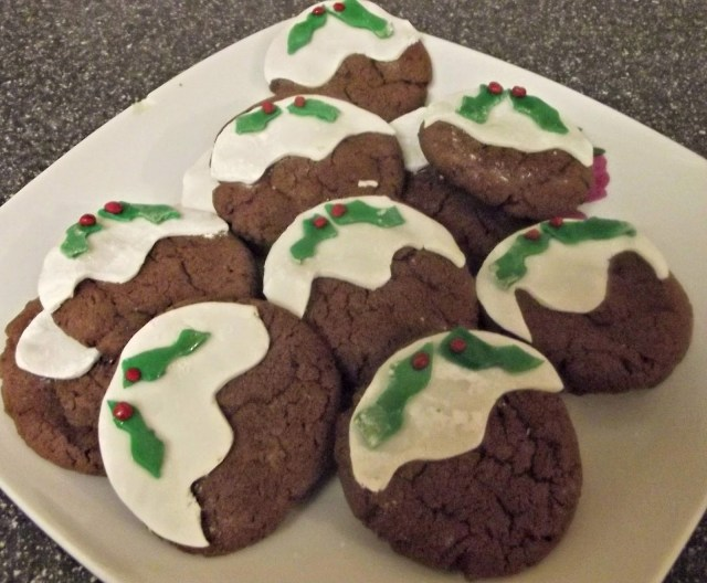christmas pudding biscuits