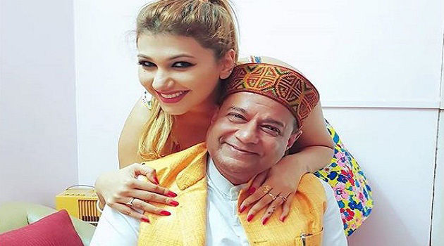 Anup Jalota and Jasleen Matharu in Bigg Boss Season 12