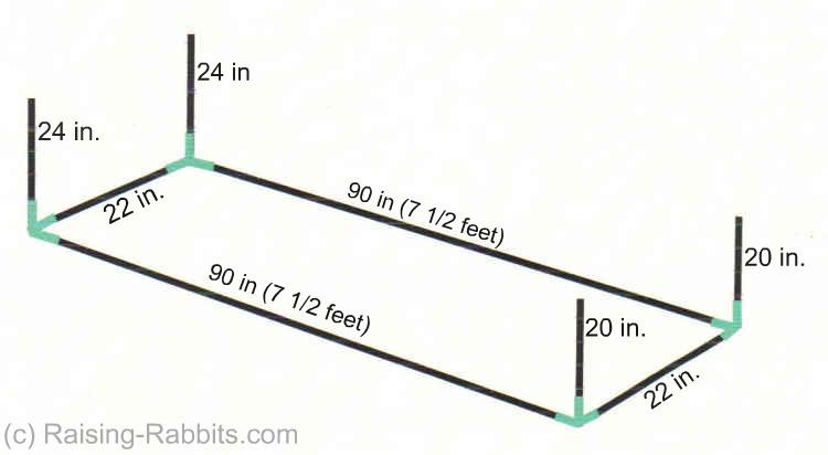 Rabbit Run. How to build an outdoor rabbit pen or run with PVC