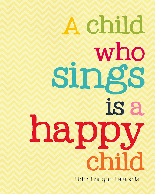 a child who sings happy quote