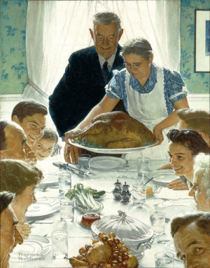Freedom from Want Norman Rockwell