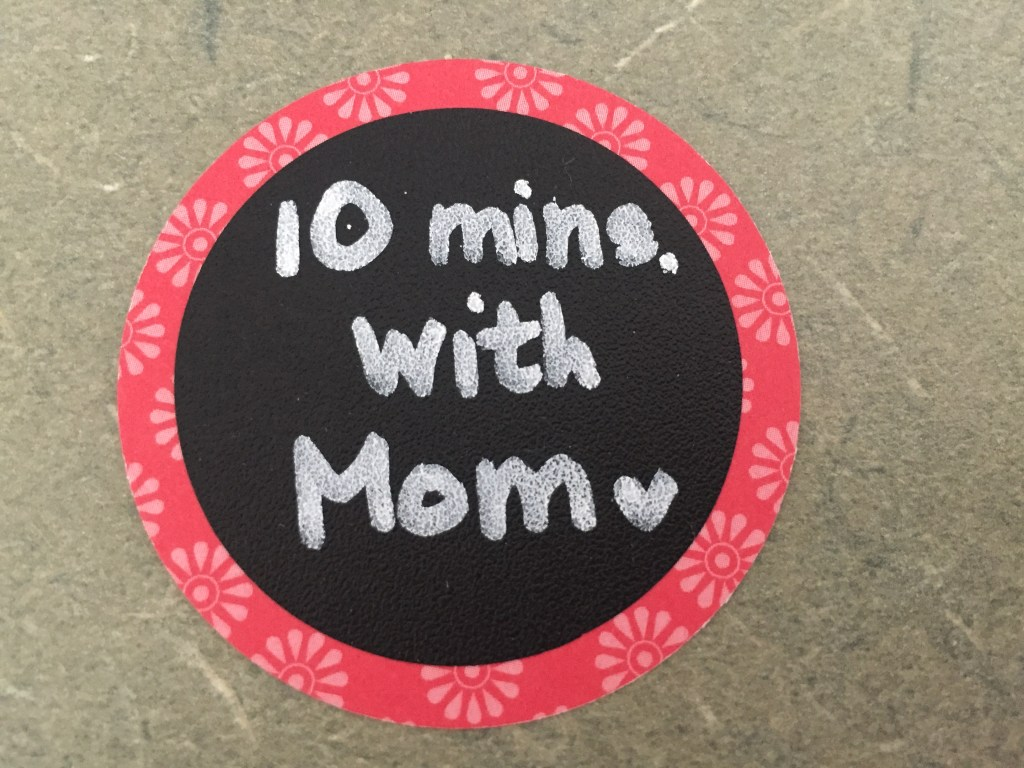 10 minutes with Mom tag