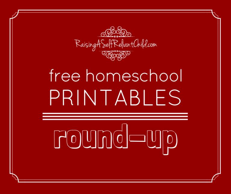 My FREE Homeschool Printables Round-Up ~ Raising a Self ...
