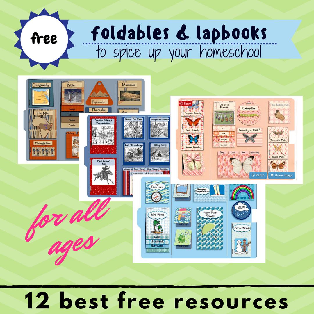Best 12 Free Foldables Amp Lapbooks Printables For Homeschooling