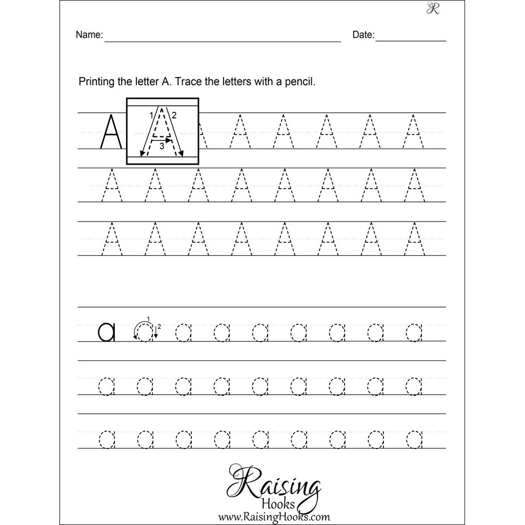 Tracing Each Letter A Z Worksheets