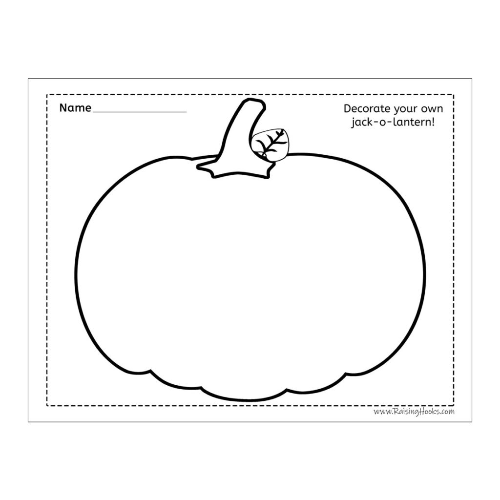 Decorate Your Own Jack O Lantern