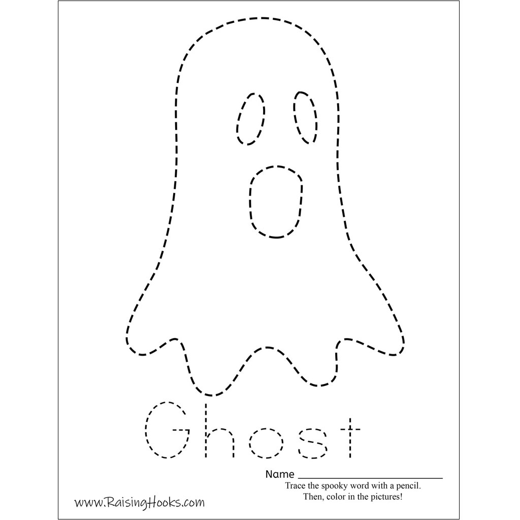 Halloween Tracing Worksheets