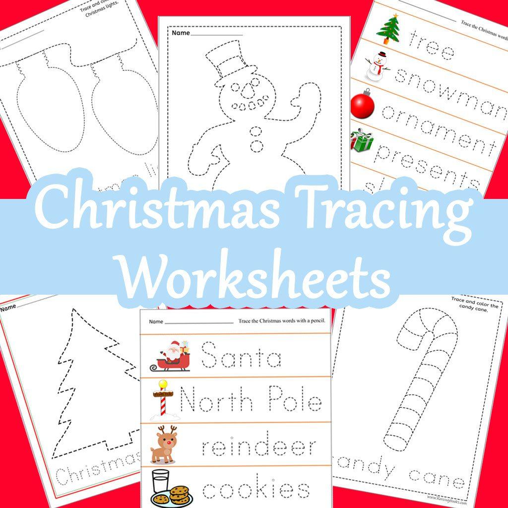 Christmas Tracing Worksheets