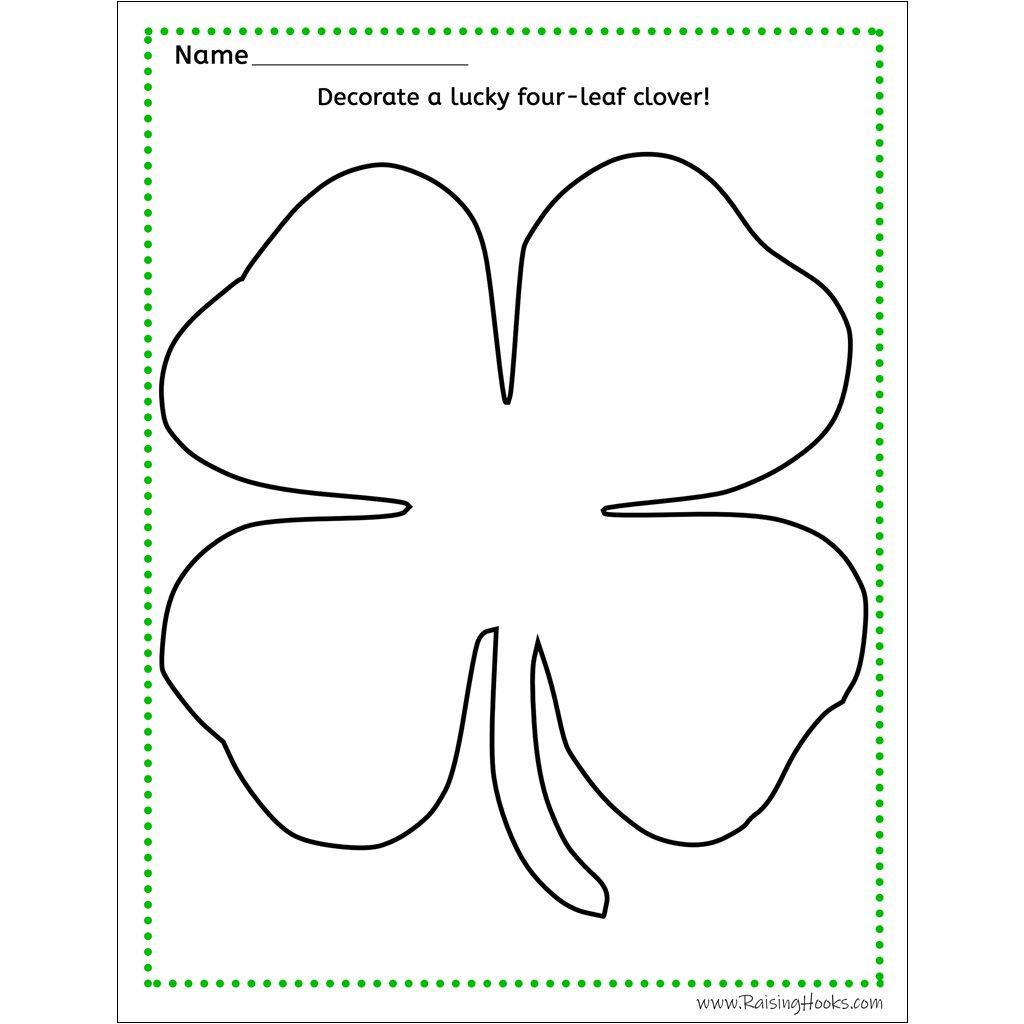 Four Leaf Clover Worksheet
