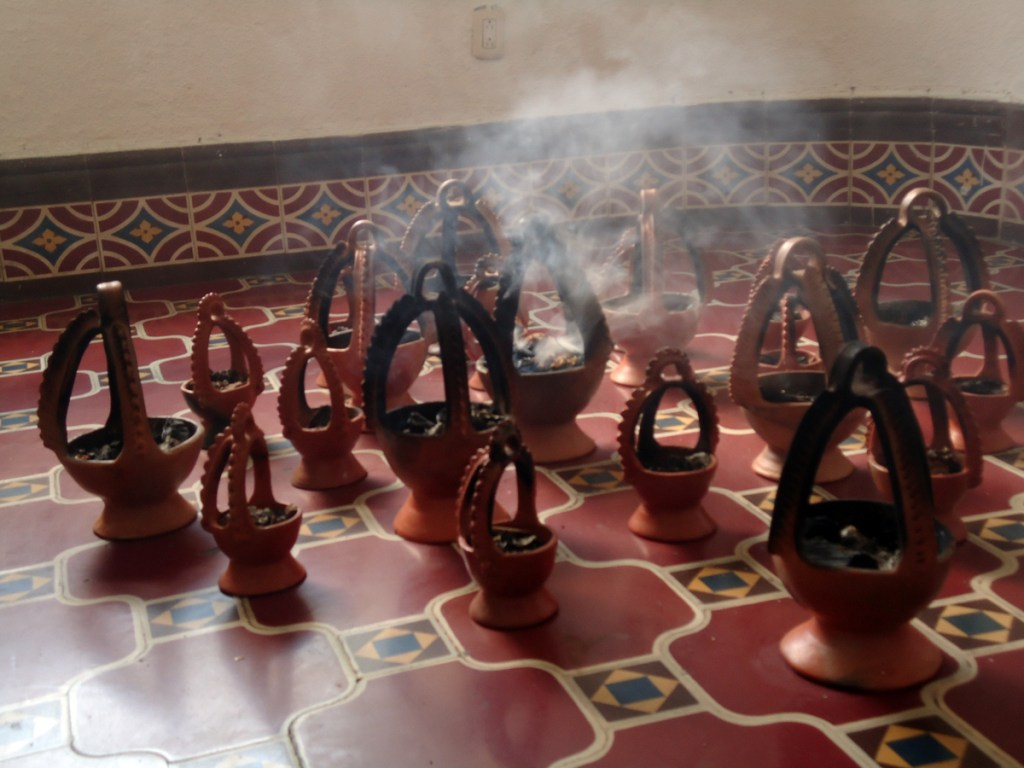 One gallery had a collection of incense burning. The smell was overwhelming.