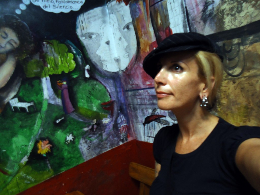 Self portrait with mural