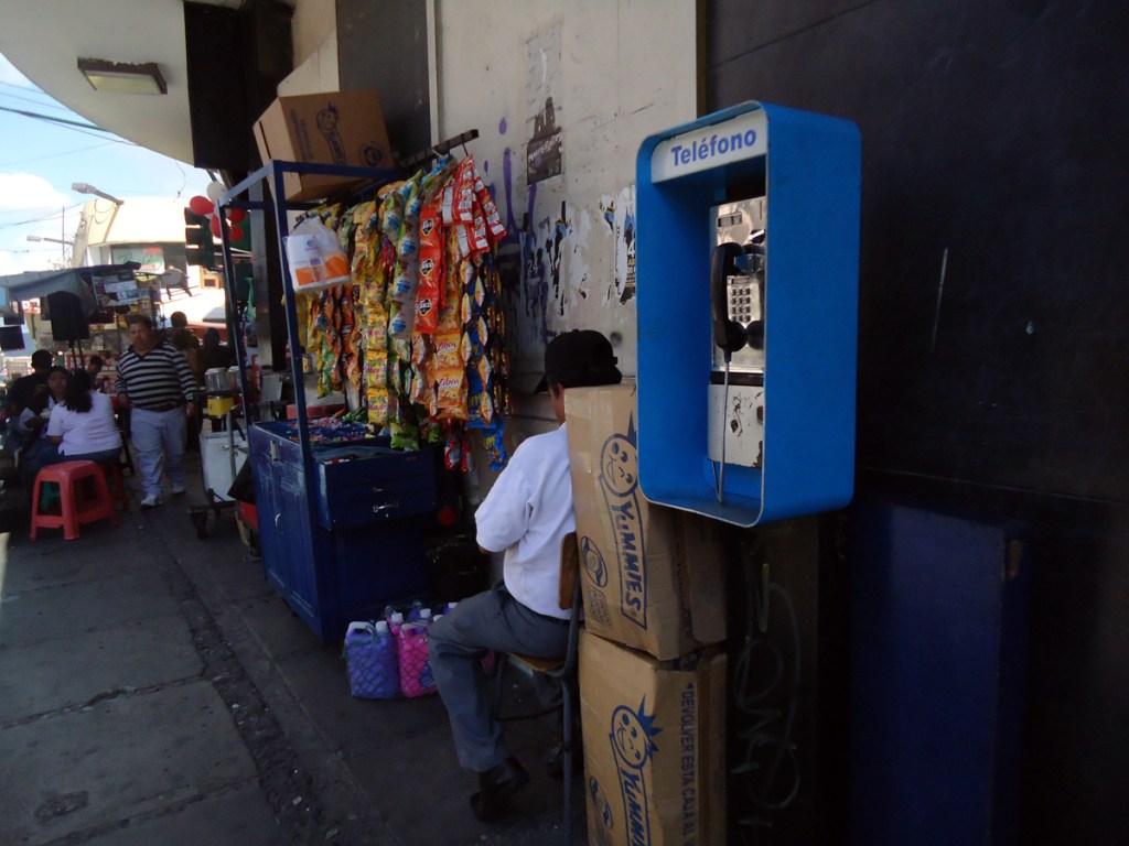 Guatemala City street corner.