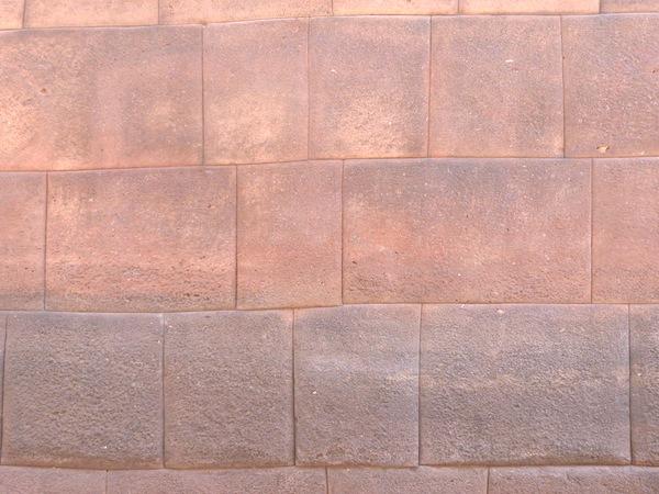 Exact masonry so precise, no motar used.