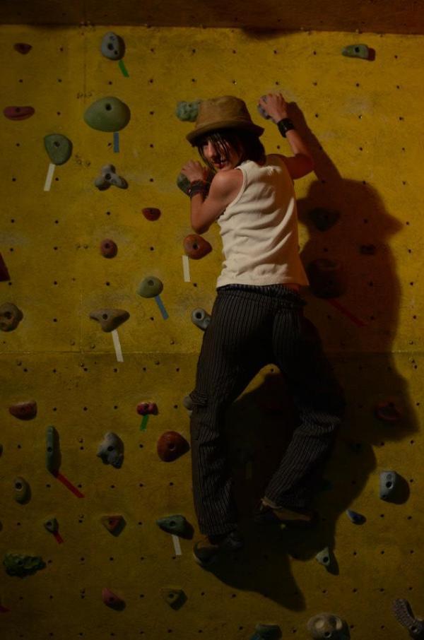 rock climbin