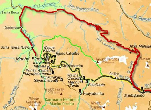 ollantaytambo_santa-rosa_santa-teresa_machu-picchu_route