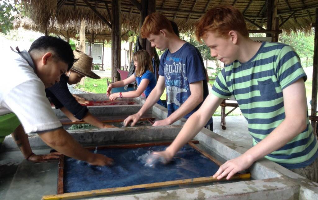 Making elephant poo paper in Thailand