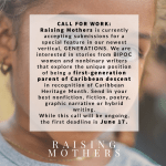 Raising Mothers Is Seeking Your Submissions!