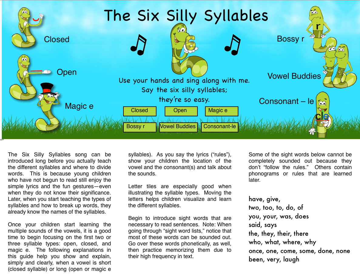 Syllables Worksheets For Kindergarten Free Liry Syllables Best Free Printable Worksheets